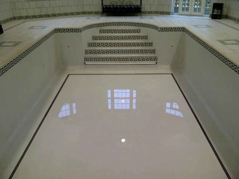 raise the floor level on tiled pool