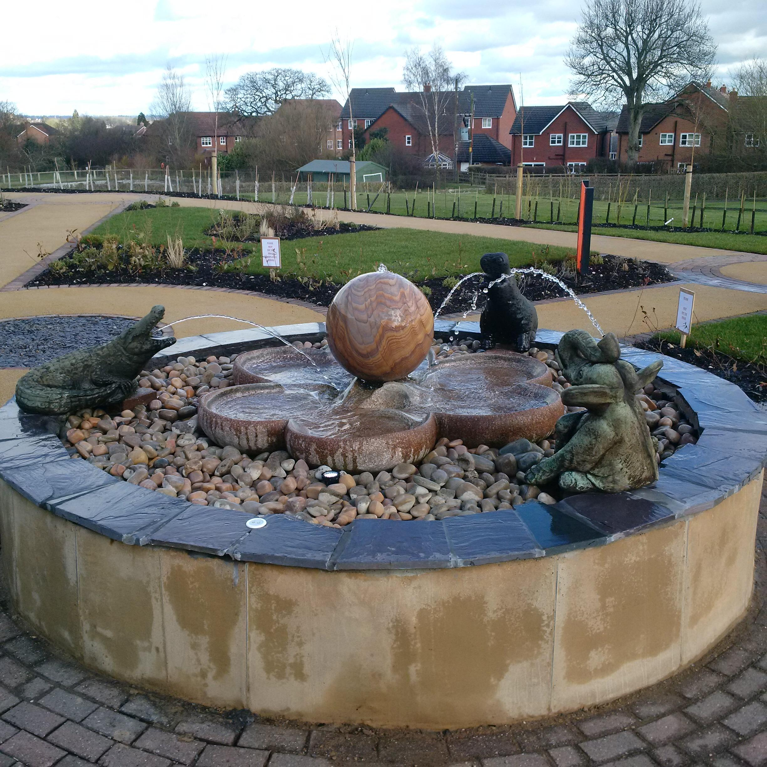 Hope House Children's Hospice, Interactive Water Feature